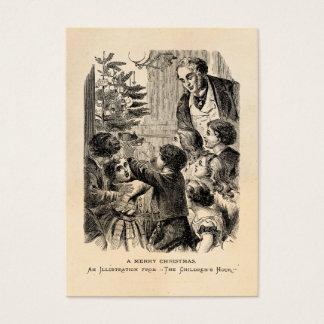 Niños del Victorian de la escena del navidad del Tarjeta De Negocios