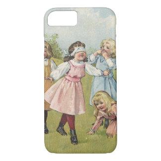 Niños del Victorian del vintage que juegan a Funda iPhone 7