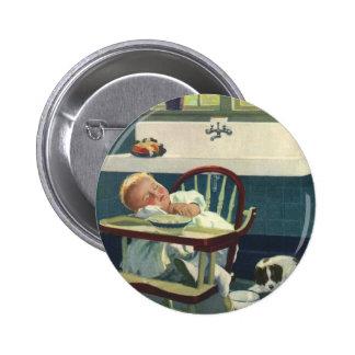 Niños del vintage cocina del Highchair el dormir Pin