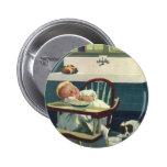 Niños del vintage, cocina del Highchair el dormir  Pin