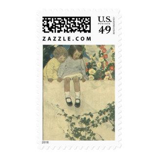 Niños del vintage, pared Jessie Willcox Smith del Envio