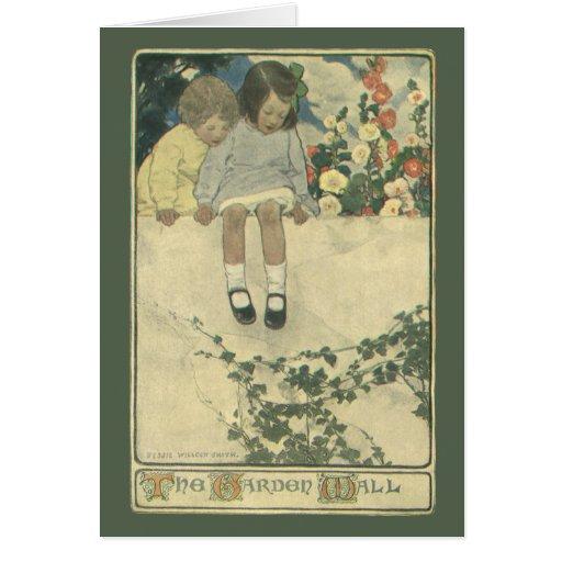 Niños del vintage, pared Jessie Willcox Smith del Tarjeta De Felicitación