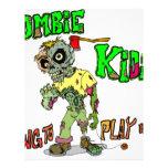 Niños del zombi membretes personalizados