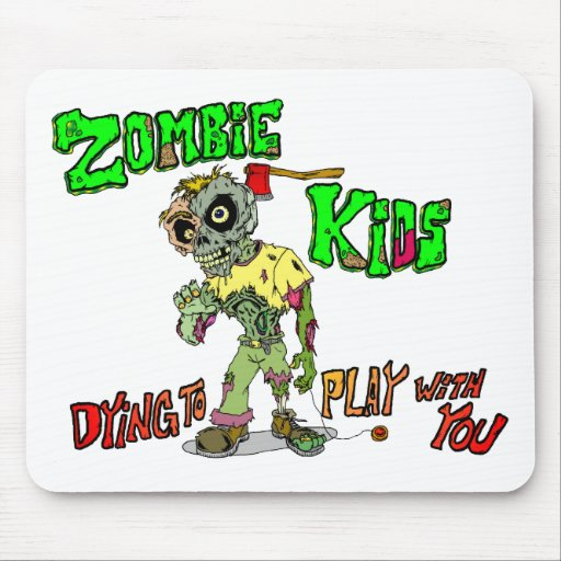 Niños del zombi mouse pads