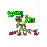Niños del zombi tarjeta postal
