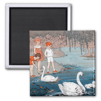 Niños e imán de los cisnes