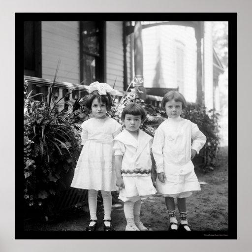 Niños en domingo mejor Dayton, OH 1898 Póster