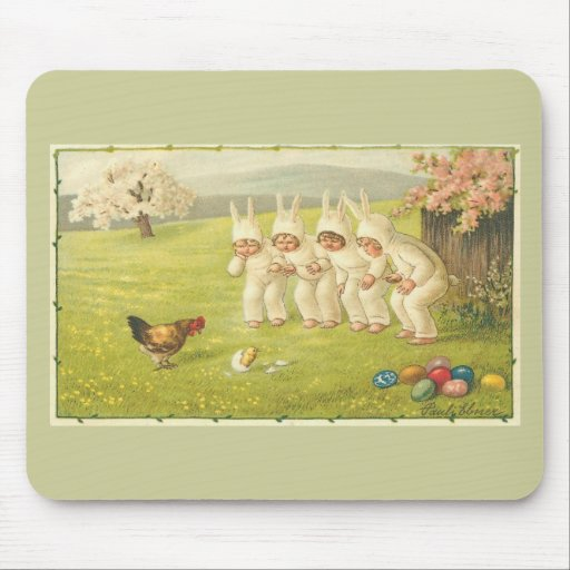 Niños en juegos del conejito tapetes de raton