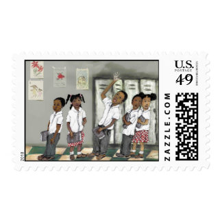 niños en línea sellos postales