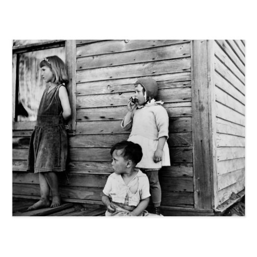 Niños en pobreza: los años 30 postales