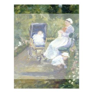 Niños en un jardín (la enfermera) por Mary Cassatt Tarjetas Informativas