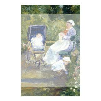 Niños en un jardín (la enfermera) por Mary Cassatt Tarjeta Publicitaria