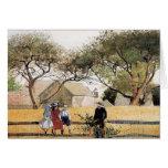 Niños en una cerca de Winslow Homer Tarjetas
