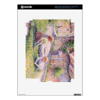 Niños en una granja de Camille Pissarro Pegatina Skin Para iPad 3