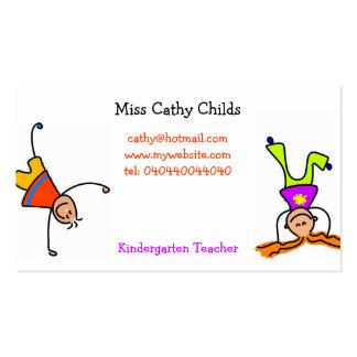 Niños enrrollados tarjetas de visita