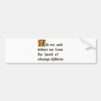Niños extraños etiqueta de parachoque