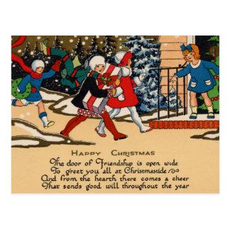 Niños felices tarjetas postales