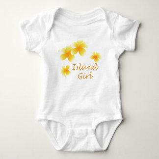 Niños florales tropicales del chica hawaiano body para bebé