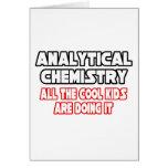 Niños frescos analíticos de la química… tarjeta de felicitación