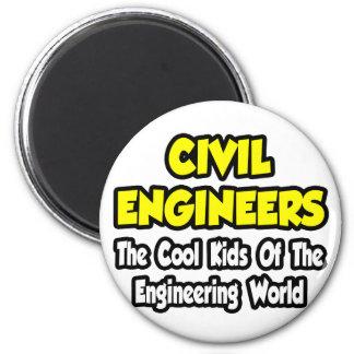 Niños frescos civiles de los ingenieros… del mundo imán redondo 5 cm
