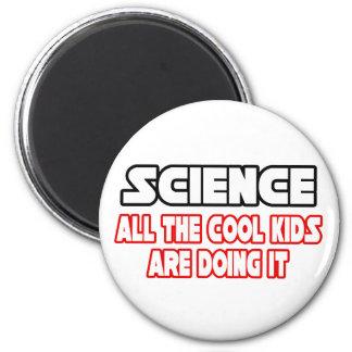 Niños frescos de la ciencia… imán redondo 5 cm