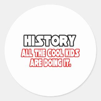 Niños frescos de la historia… pegatinas redondas