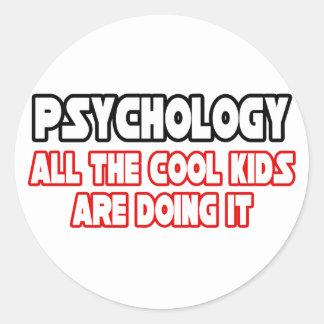Niños frescos de la psicología… etiquetas redondas