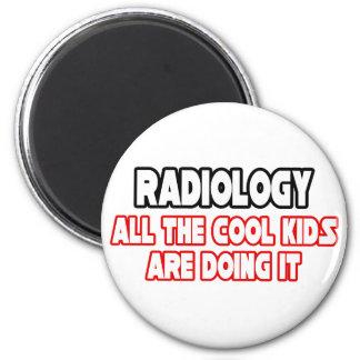 Niños frescos de la radiología… imán redondo 5 cm