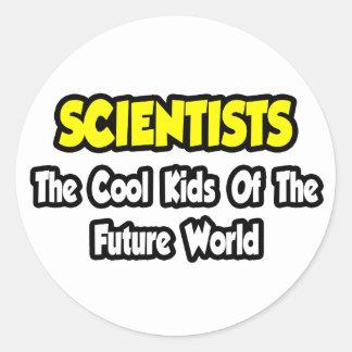 Niños frescos de los científicos… del mundo futuro pegatina redonda