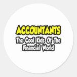 Niños frescos de los contables… del mundo pegatina redonda