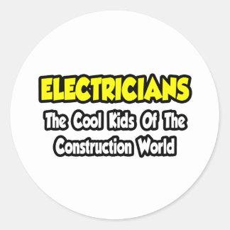 Niños frescos de los electricistas… del mundo de pegatina redonda