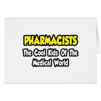 Niños frescos de los farmacéuticos… del mundo médi tarjetas