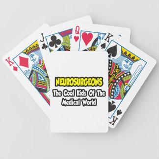 Niños frescos de los neurocirujanos… del mundo baraja cartas de poker
