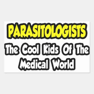 Niños frescos de los parasitólogos… del mundo pegatina rectangular