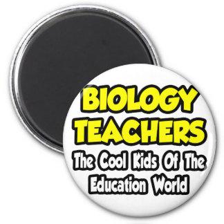 Niños frescos de los profesores de biología… del m imán redondo 5 cm