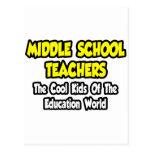 Niños frescos de los profesores de escuela secunda tarjeta postal