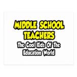 Niños frescos de los profesores de escuela secunda postales
