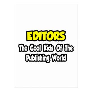 Niños frescos de los redactores… del mundo de publ postal