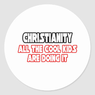 Niños frescos del cristianismo… pegatinas redondas