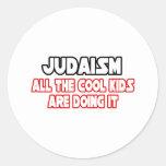 Niños frescos del judaísmo… pegatina redonda
