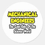 Niños frescos Mech de los ingenieros… del mundo de Etiqueta Redonda