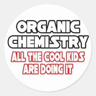 Niños frescos orgánicos de la química… pegatina redonda