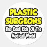 Niños frescos plásticos de los cirujanos… del pegatinas redondas