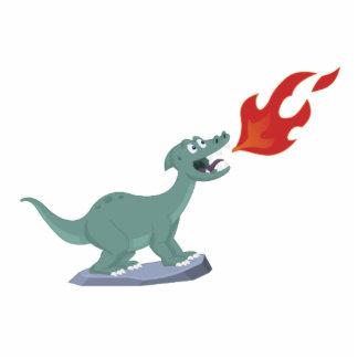 Niños Fuego-Que respiran arte del dinosaurio de Je Escultura Fotográfica