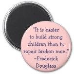 Niños fuertes de Frederick Douglass Imán Para Frigorífico