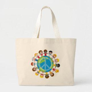 Niños globales bolsa tela grande