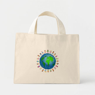 Niños globales bolsa tela pequeña