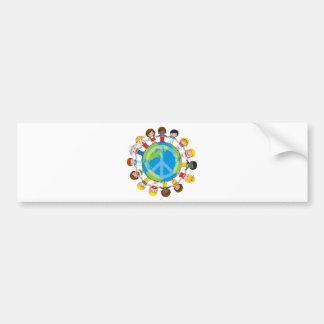 Niños globales pegatina de parachoque