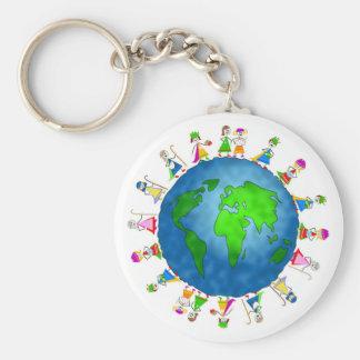 Niños globales de la natividad llavero