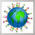 Niños globales de la natividad posters